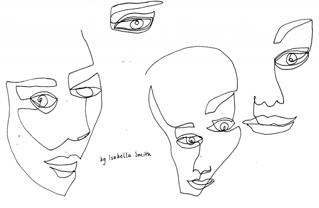 1024x670 Continuous Line Drawing Isabella Smith (More Continuous Line