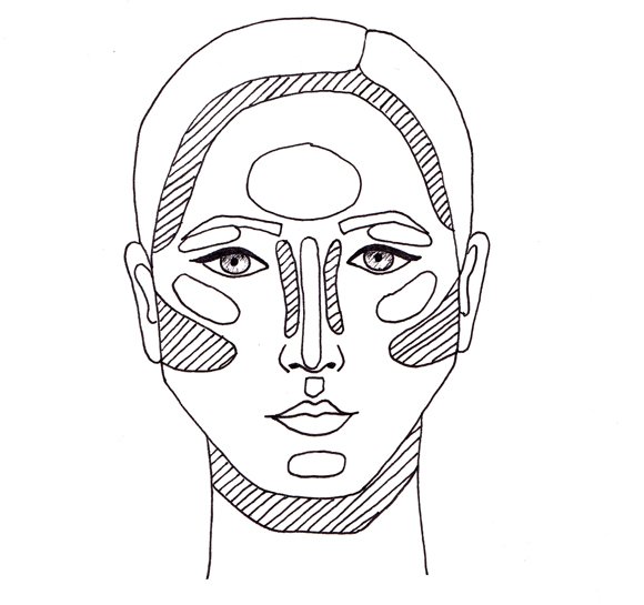 Contour Line Drawing Makeup : Contour face drawing at getdrawings free for