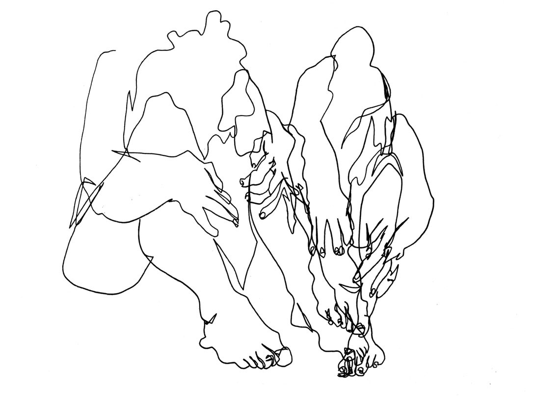 Blind Contour Line Drawing Hand : Contour line drawing hands at getdrawings free for