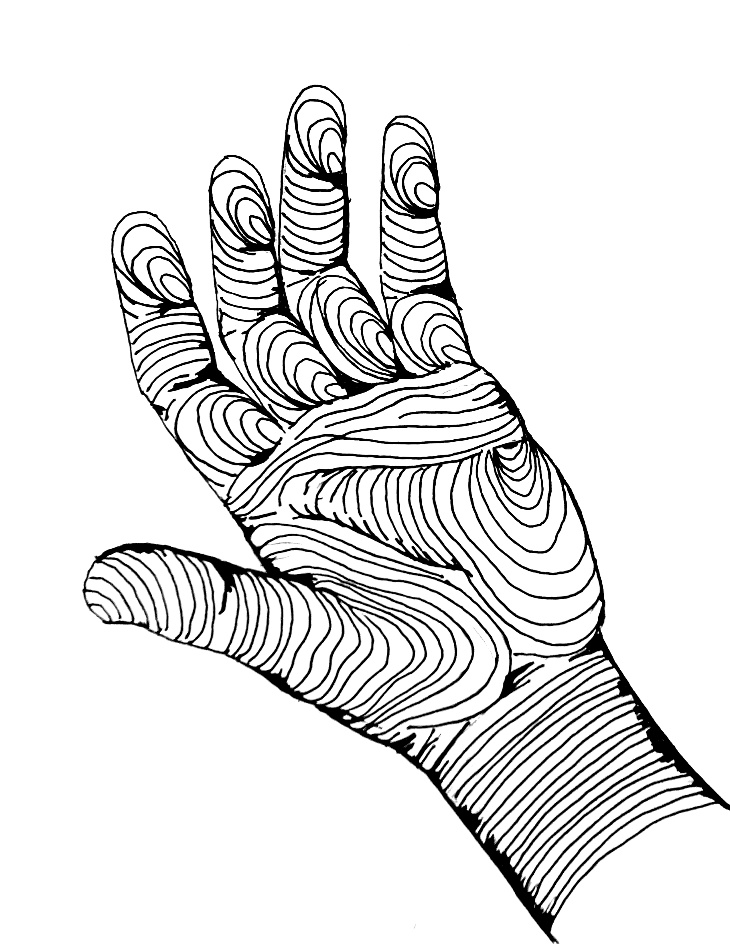 2550x3300 Cross Contour Drawing Hands Beginning Drawing De Anza College
