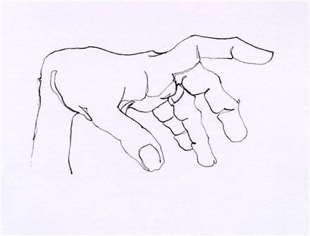 Contour Line Hand Drawing