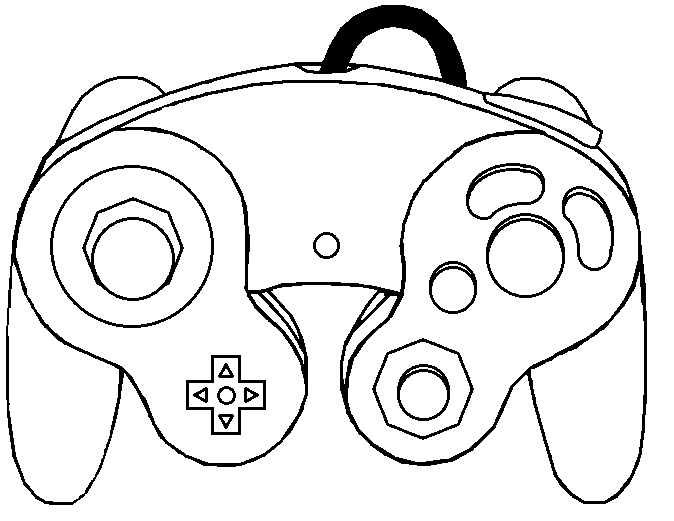 674x521 Gamecube Controller Template By Thewolfbunny