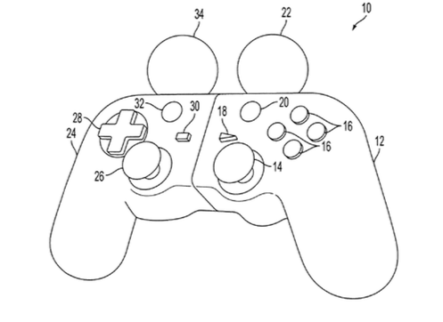 497x362 New Patent Points To Snap Together Move Dualshock Hybrid Controller