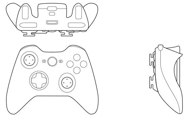 600x378 Orthographic Drawing Xbox Controller, Irzal Adji Pangestu, Kelas 1