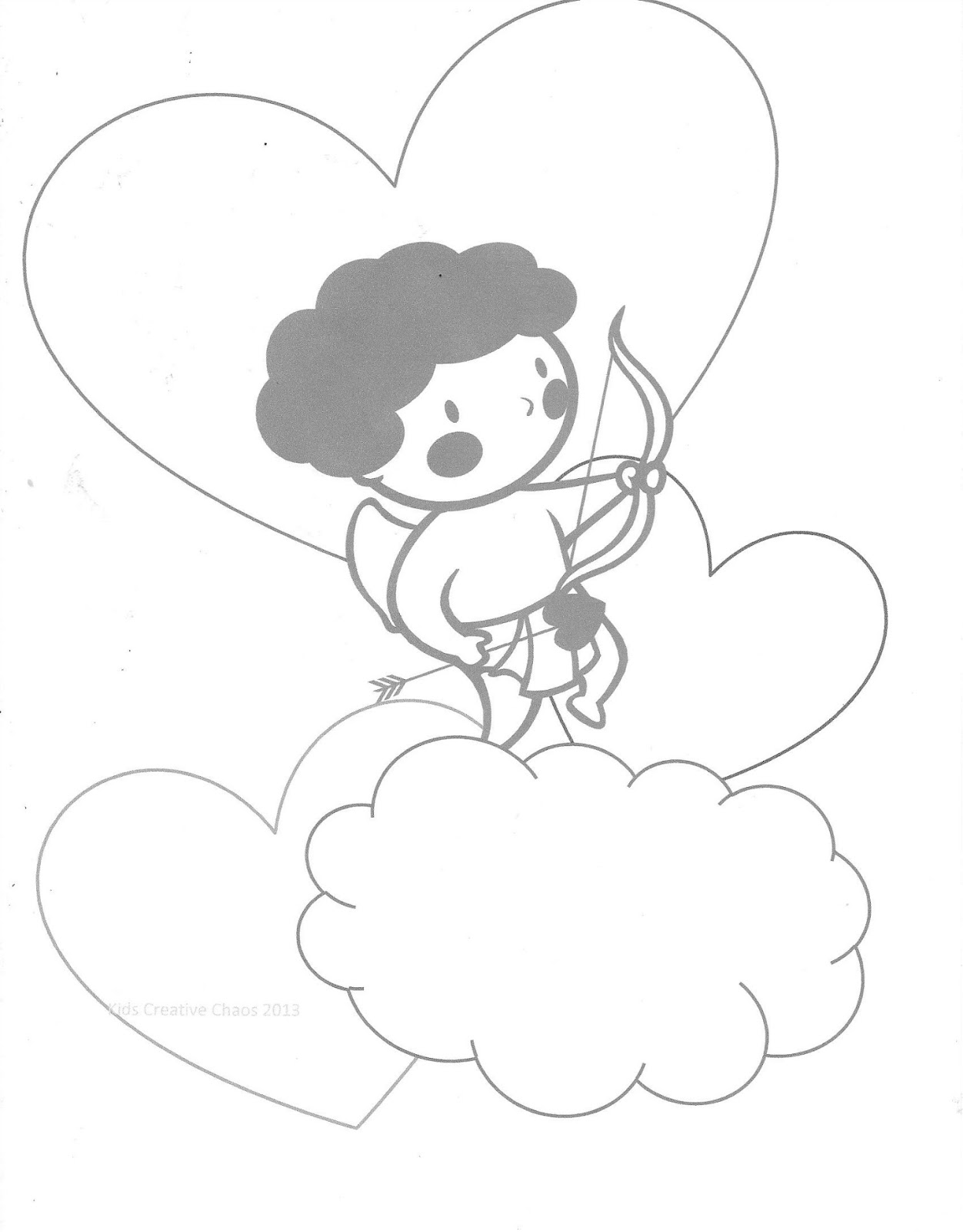 1252x1600 Valentine Conversation Heart Printables With Cherub Cupid Coloring
