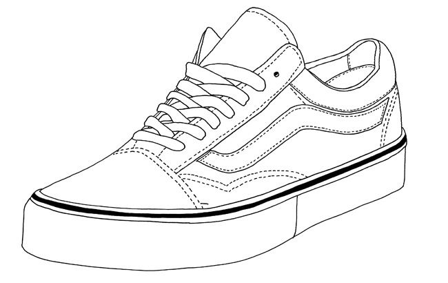 Converse Shoe Drawing at GetDrawings.com | Free for ...