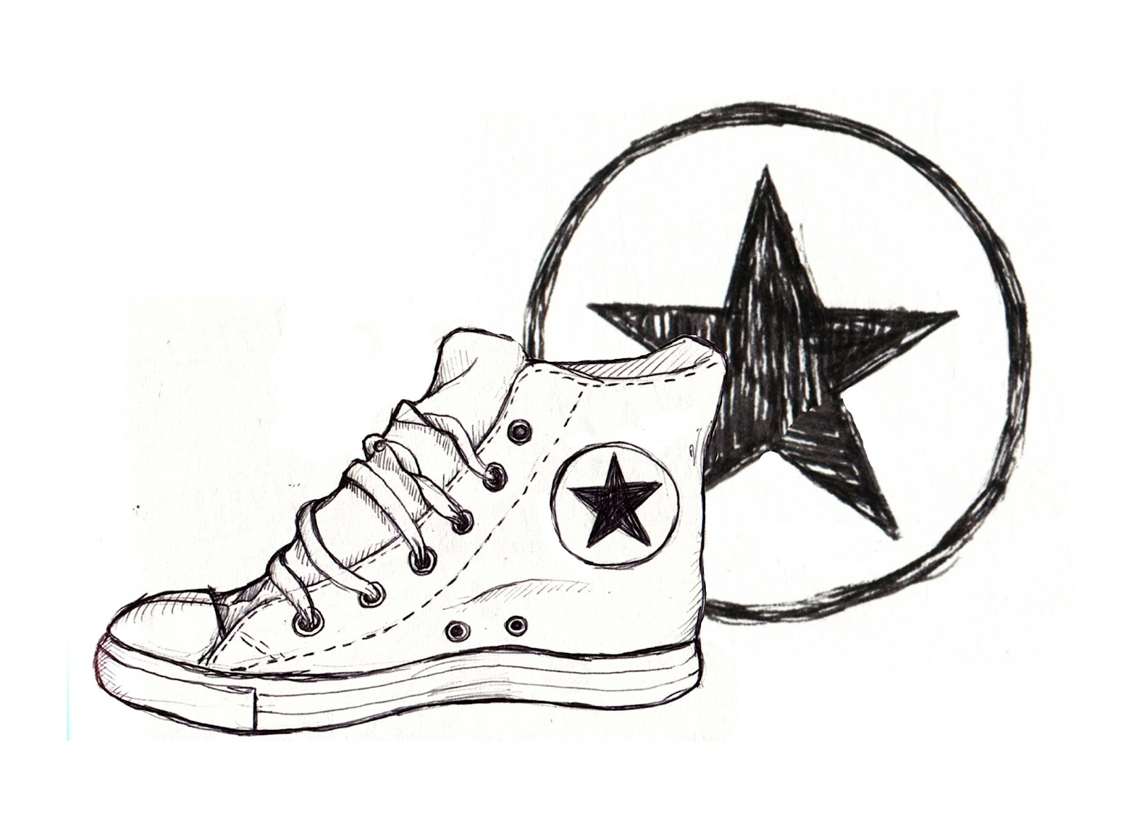 Converse Shoes Drawing at GetDrawings.com | Free for ...