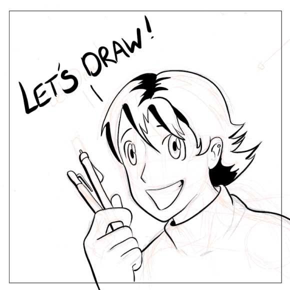 580x580 Illustrator Tutorial To Convert Drawing Sketch To Vector Cartoon