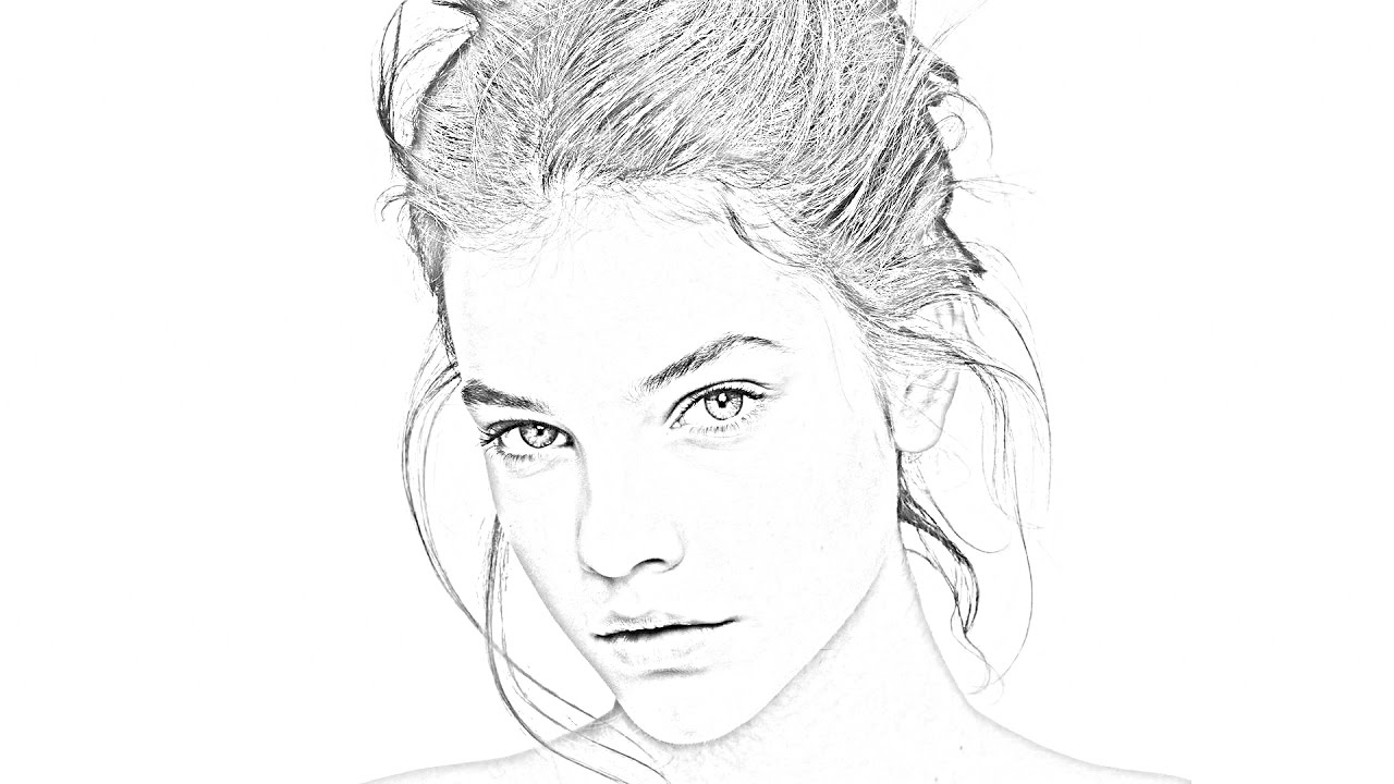 1280x720 Photoshop Pencil Drawings Tutorial