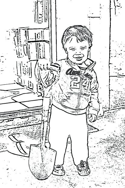 413x620 Convert Photo To Coloring Page Free Step Save And Print Convert