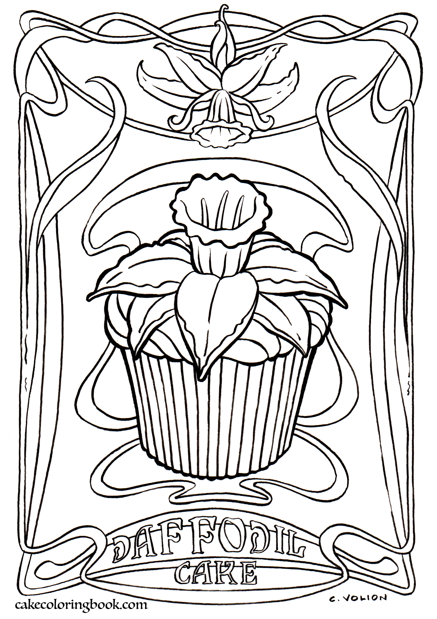 1671x2364 Coloring Book Fantasy Cake Color And Bake Cookbook