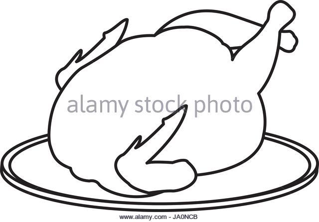 640x446 Whole Roast Chicken Food Illustration Stock Photos Amp Whole Roast
