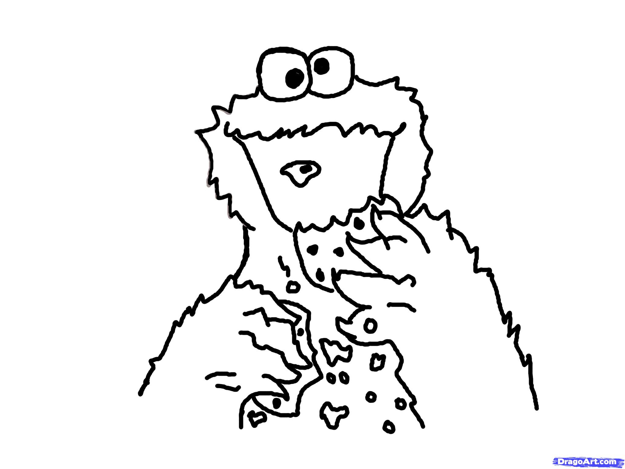 2048x1536 Cookie Monster Drawing How To Draw Cookie Monster, Stepstep, Pbs