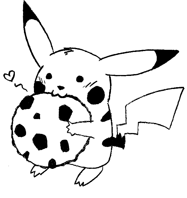 617x652 Cookie Pikachu By Nylten
