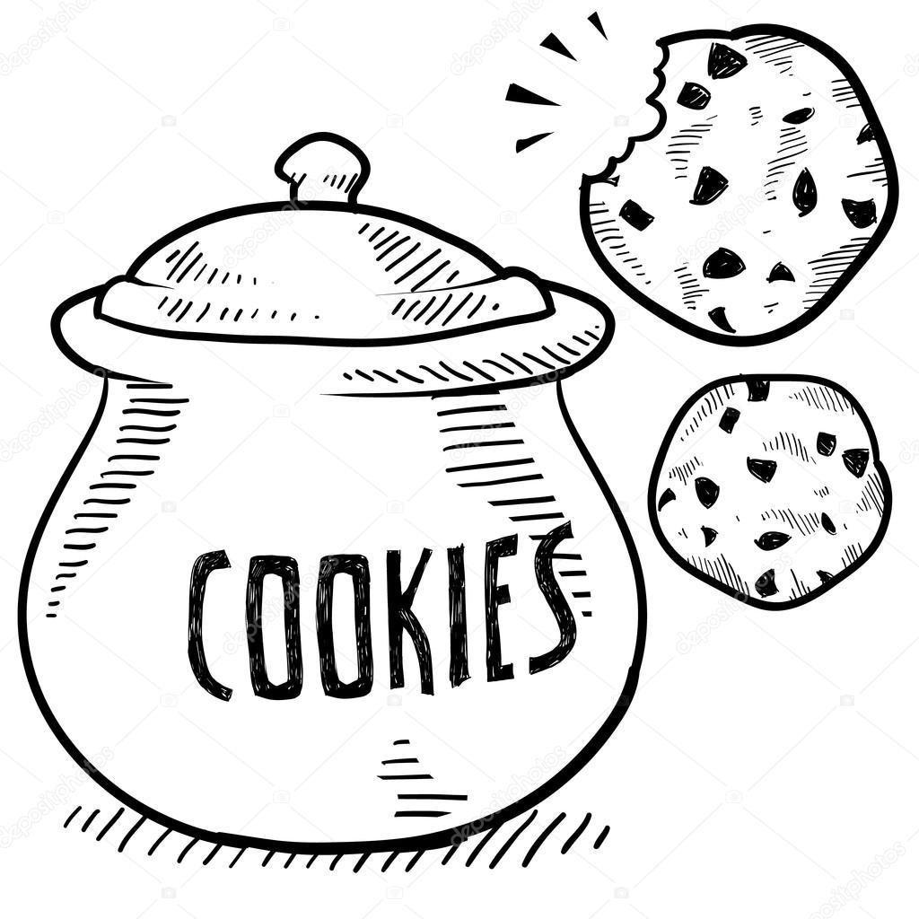 1024x1024 Cookie Jar Sketch Stock Vector Lhfgraphics