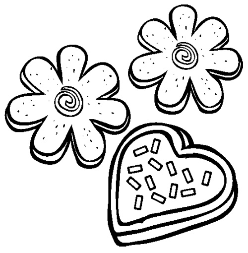 500x510 Cookies Coloring Pages Fresh Cookie Coloring Pages