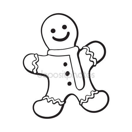 450x450 Glazed Gingerman, Christmas Gingerbread Cookie Stock Vector