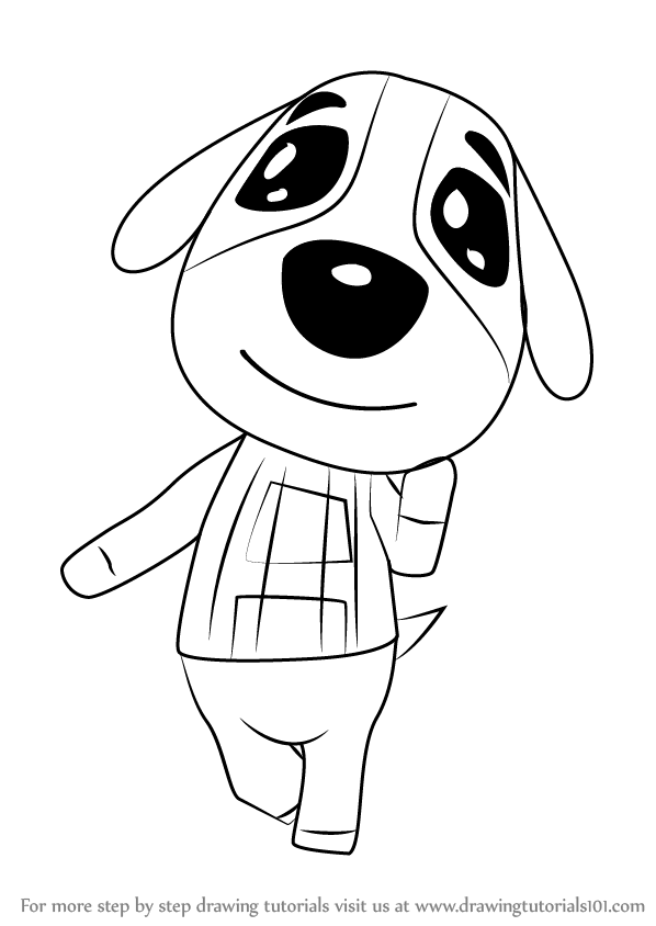 598x844 Learn How To Draw Cookie From Animal Crossing (Animal Crossing