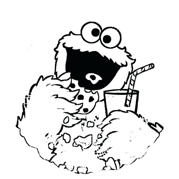 600x600 Monster Cookie And Big Cookies Coloring Pages Cartoon Drawing