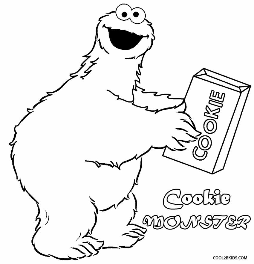 850x881 Printable Cookie Monster Coloring Pages For Kids Cool2bkids
