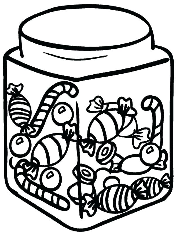 600x790 Cookie Jar Coloring Page Cotton Candy In Jar Coloring Pages Cookie
