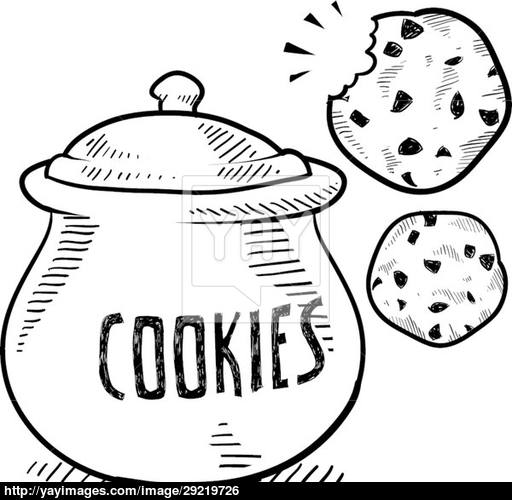 Cookie Jar Drawing at GetDrawings.com | Free for personal use Cookie ...