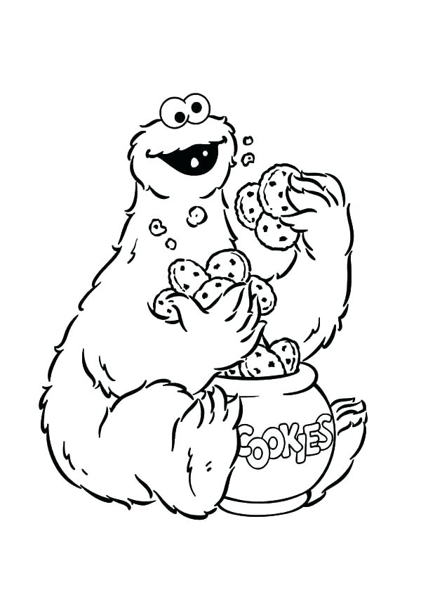 600x839 Free Monster Coloring Pages Cookie Monster Coloring Book Cookie