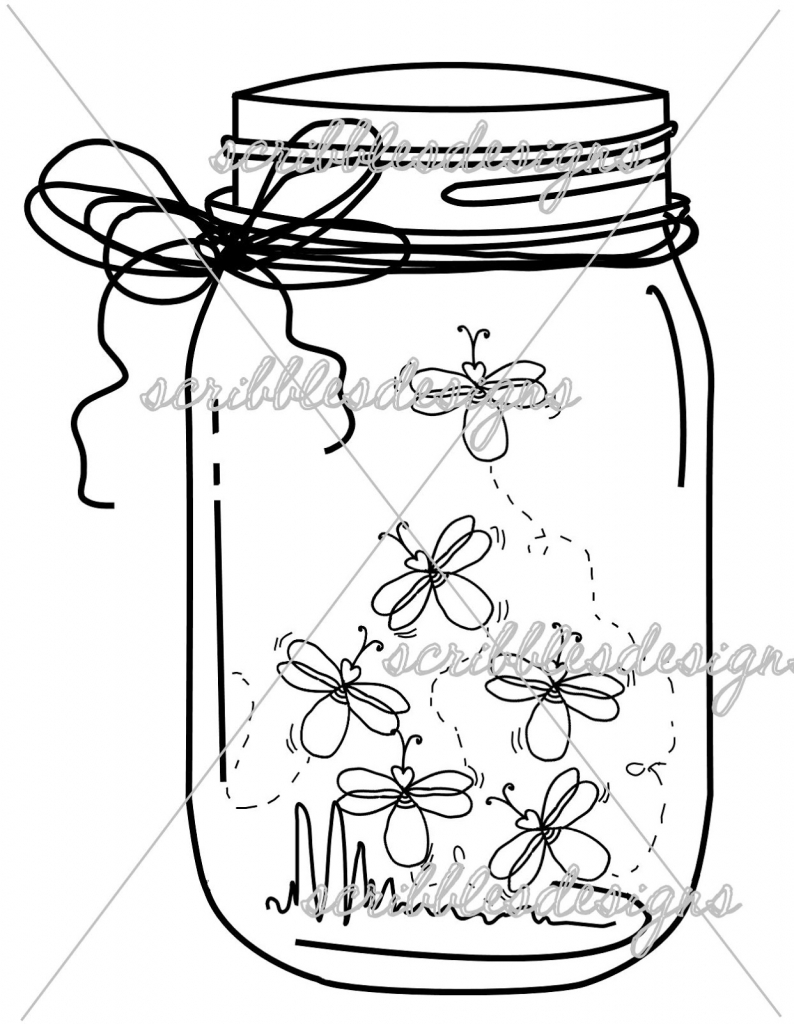 794x1024 Image Of Mason Jar Clip Art 2408 Empty Cookie Free Best Coloring