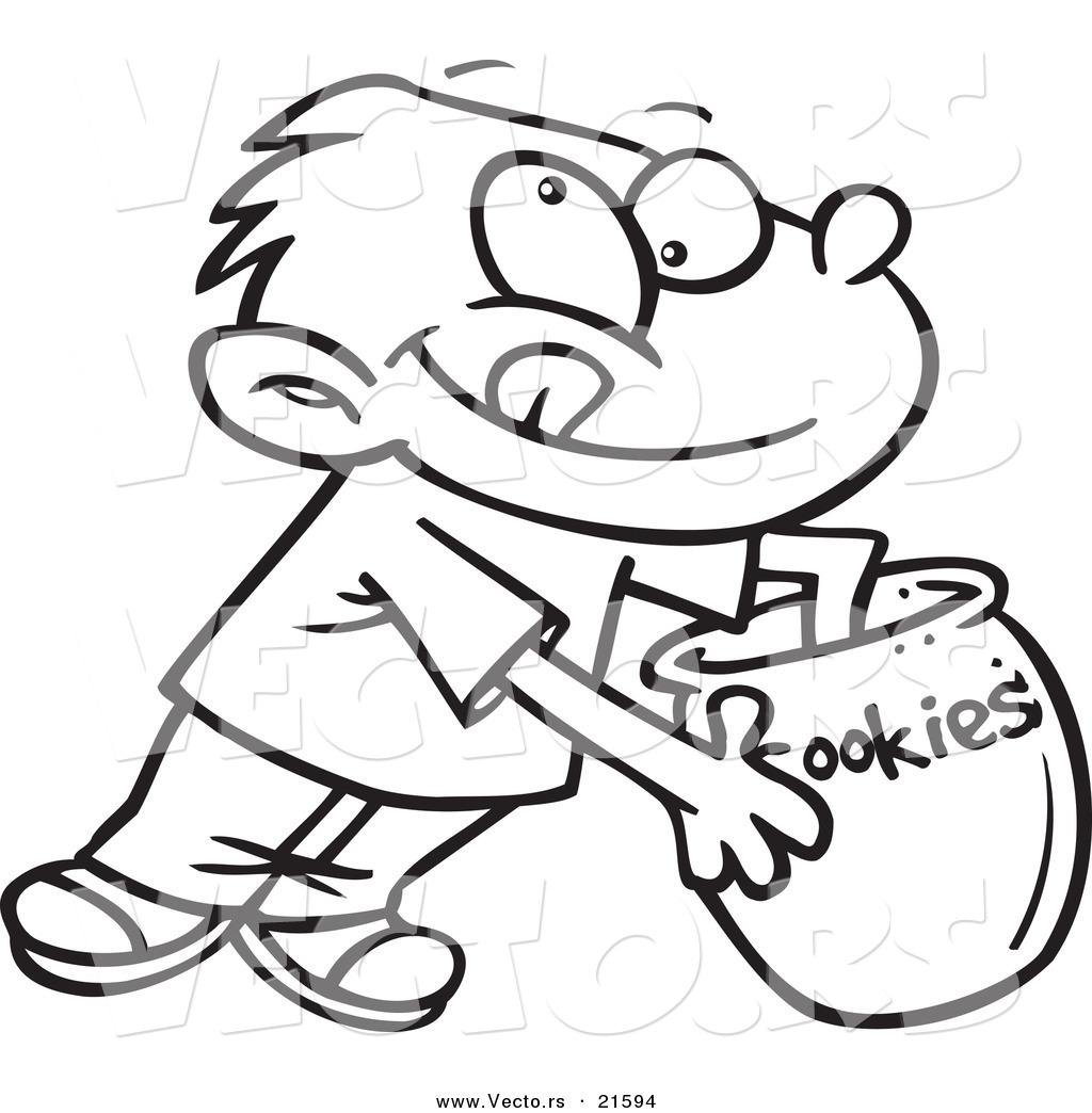 1024x1044 Vector Of A Cartoon Boy Reaching In Cookie Jar