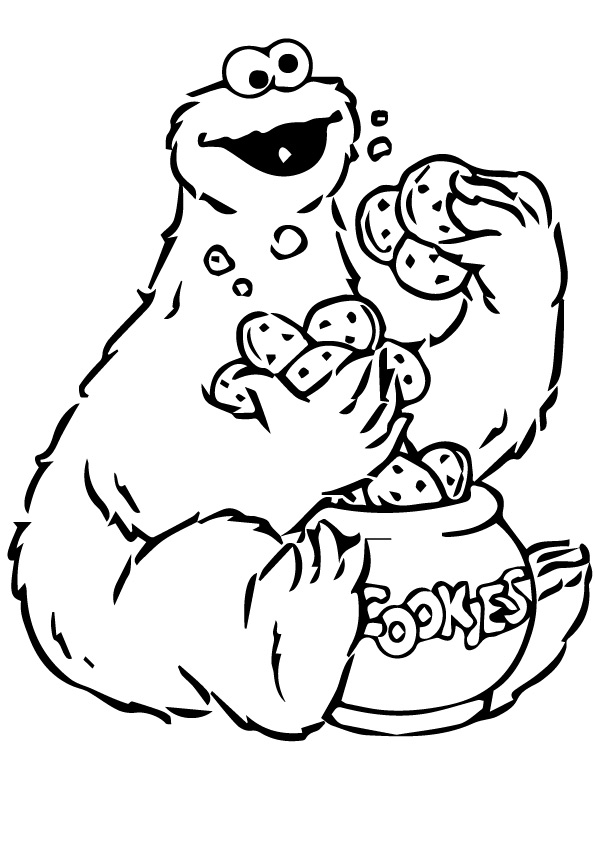 595x842 Perfect Cookie Monster Coloring Pages 93 For Your Oloring Pages
