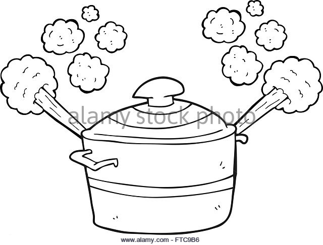 640x486 Freehand Drawn Cartoon Cooking Pot Stock Photos Amp Freehand Drawn