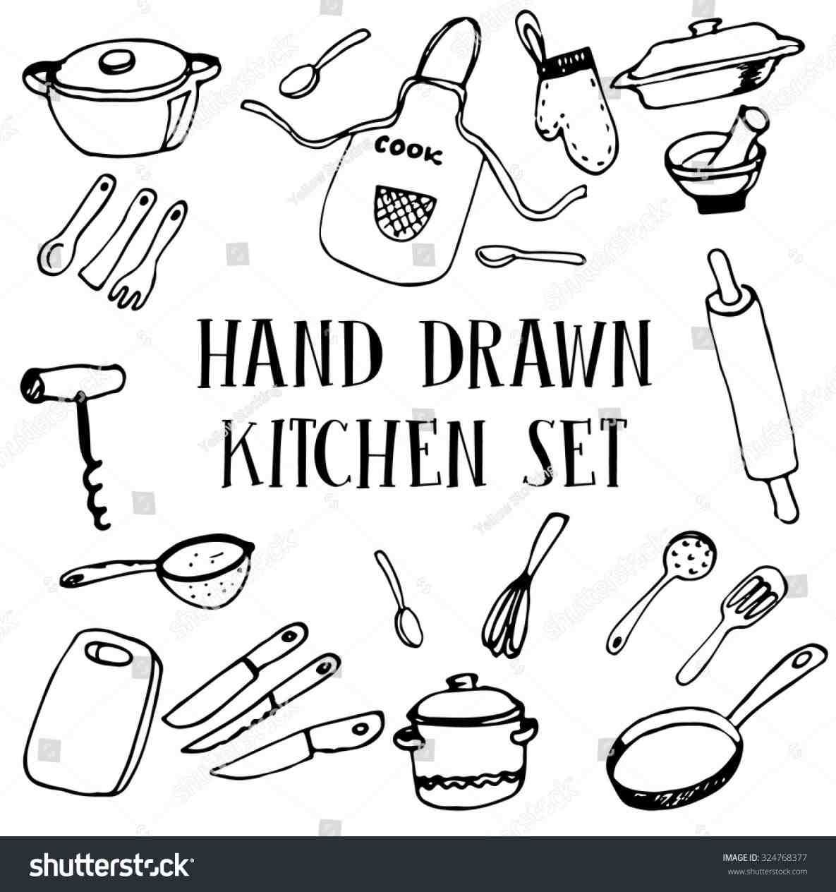 Cooking Utensils Drawing at GetDrawings.com | Free for personal use ...