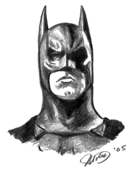 456x600 Batman Head By Whyaduck