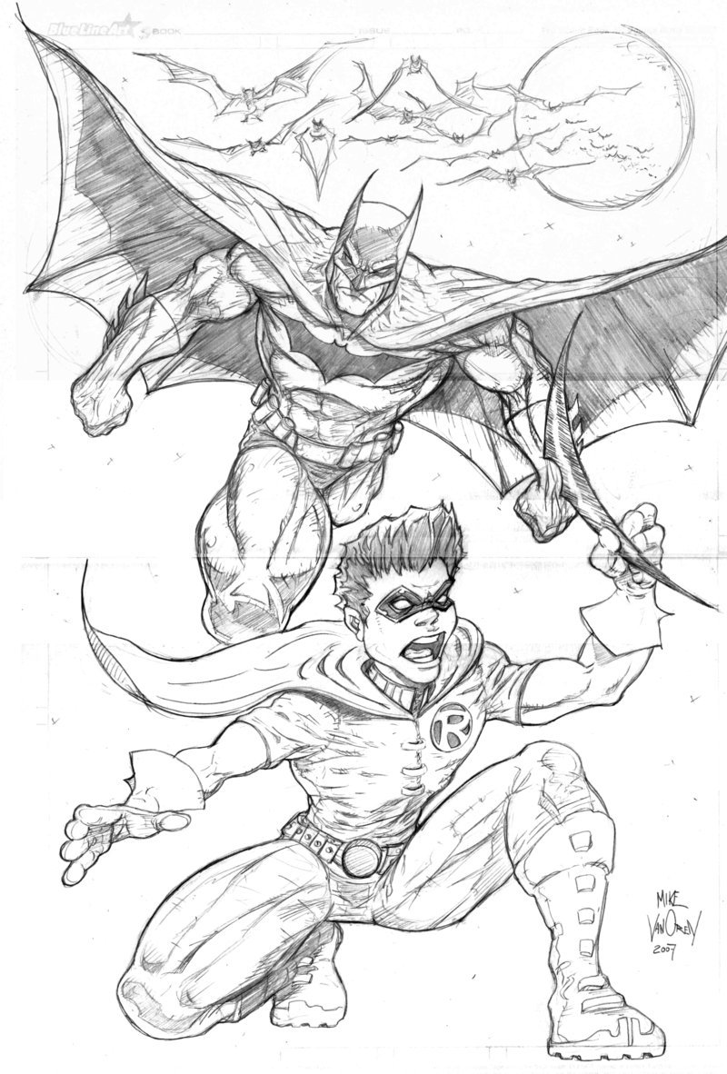 800x1182 Batman And Robin By Mikevanorden