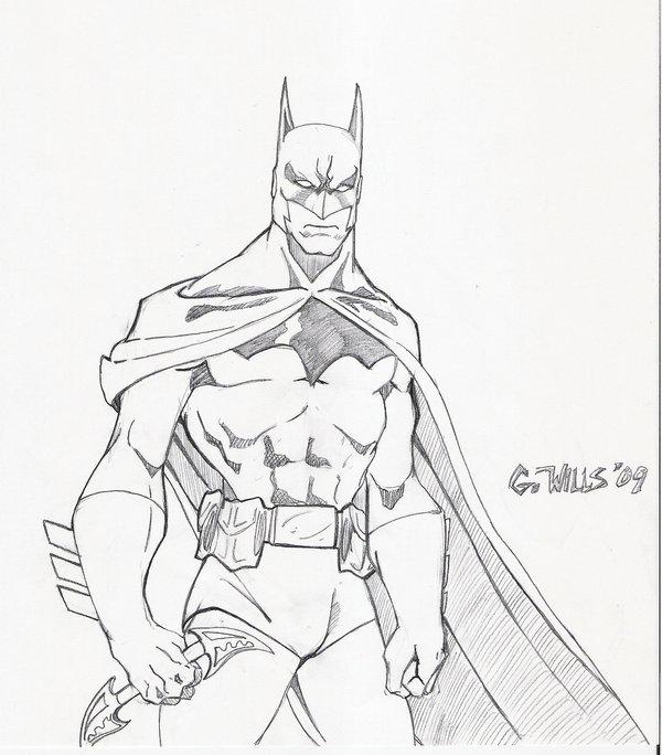 600x684 Batman Sketch 1 12 By Glwills1126