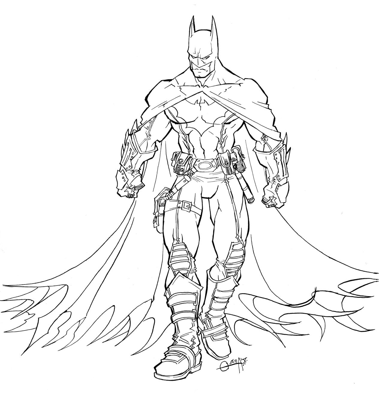 1264x1309 Batman Coloring Pages