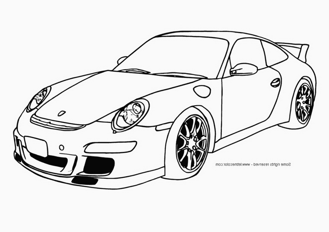 1048x740 cool cars coloring pages cool car coloring pages for boys porsche - Car Color Pages
