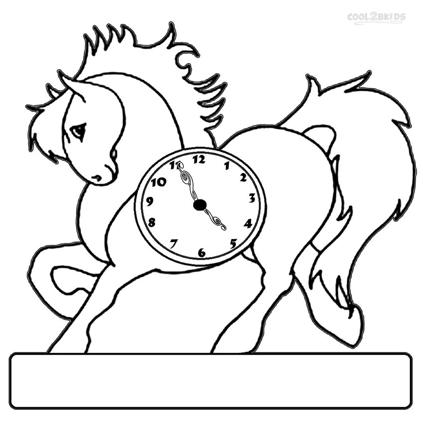 850x877 Printable Clock Coloring Pages For Kids Cool2bKids