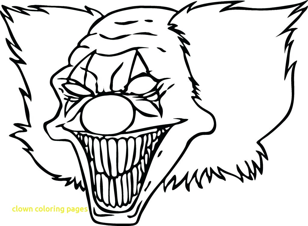 1024x751 clown coloring pages with clowns coloring pages scary clown to - Clown Coloring Pages 2