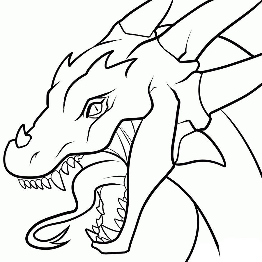 900x900 Dragon Drawings For Beginners Coloring Pages Easy