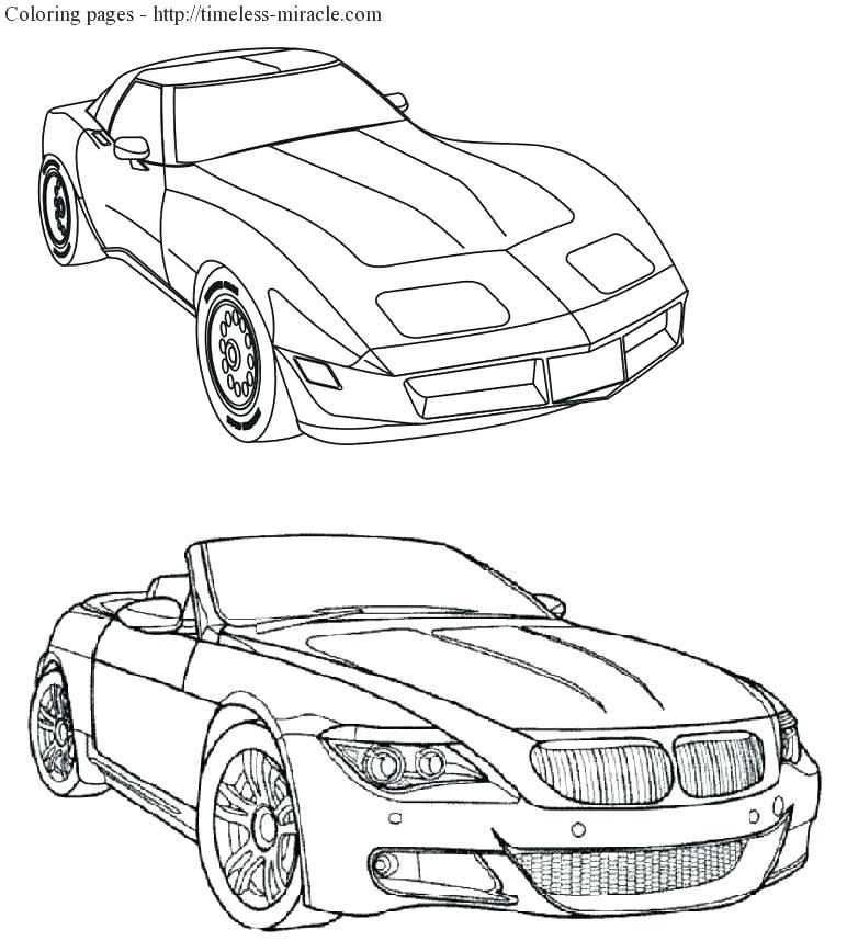 772x868 Cool Car Coloring Pages Coloring Corvette Coloring Page Car Pages