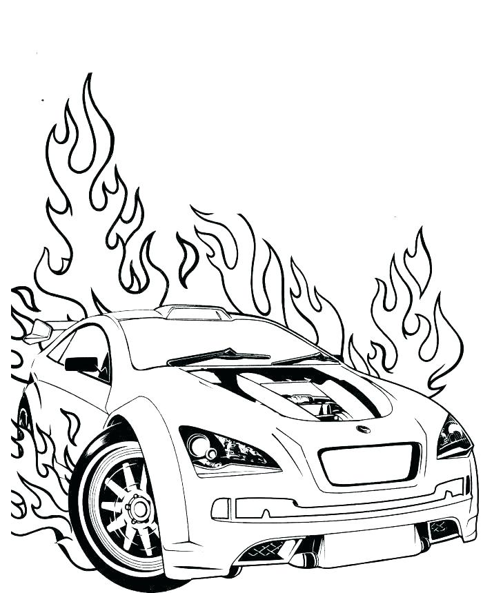 700x860 Cool Car Coloring Pages Race Car Coloring Pages Muscle Cars Cars