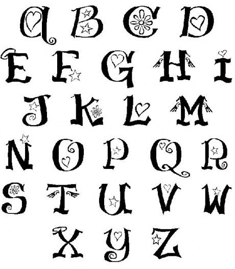 460x527 drawn typeface abc letter different
