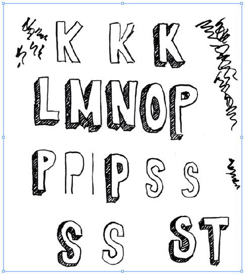 485x545 Love Hand Drawn Fonts And This Shows How To Make One! A Font