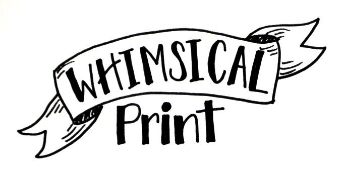 680x350 Basic Hand Lettering Whimsical Print