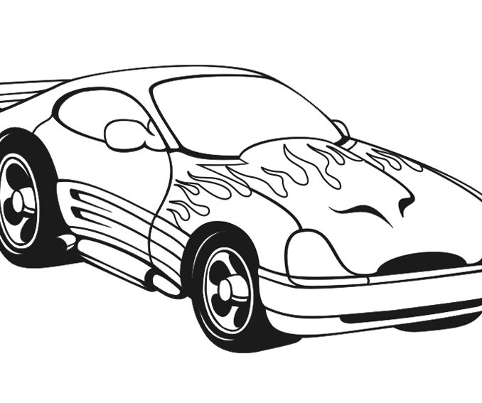 678x567 Coloring Pages Of Cool Cars Coloring Page