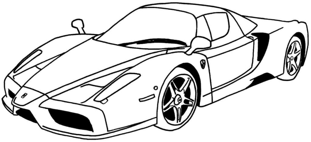1024x468 Cool Car Coloring Pages Epic