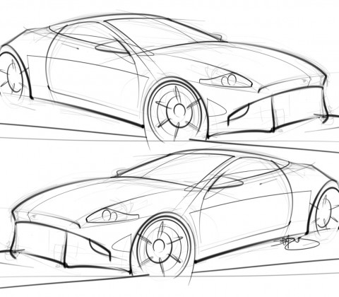 480x420 Cool Sketch Of Cars Images