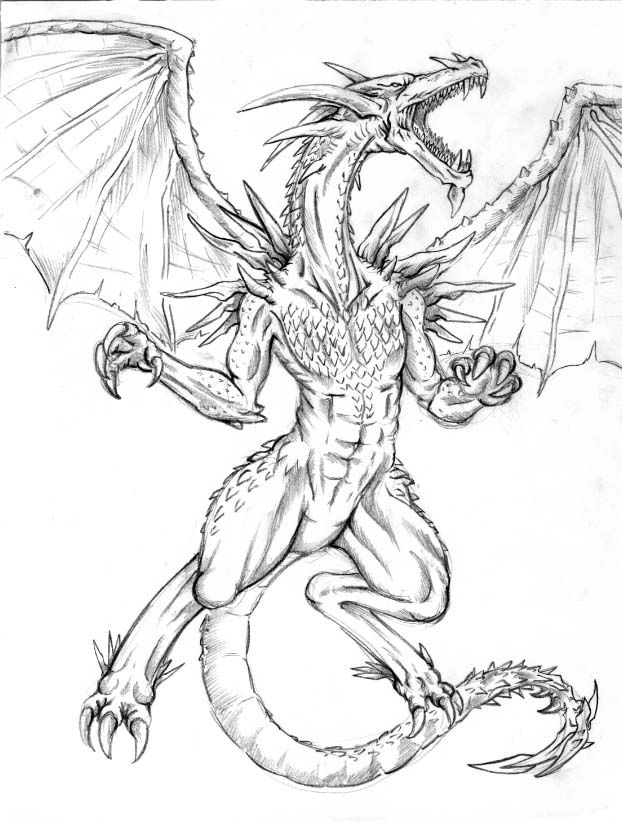 622x824 Dragon Drawings Dragon Drawing 1 By ~darknaruto2kx