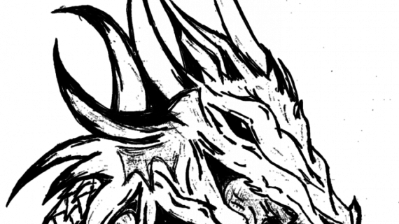 570x320 Drawing Of Dragons Cool Drawings Of Dragons Head 3 Decoration